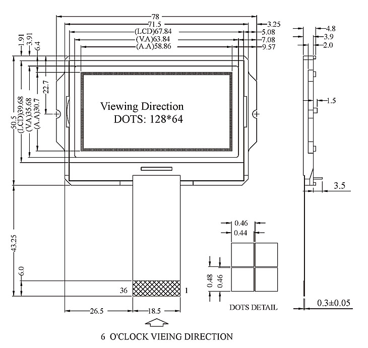 COG LCD Modules - VO128641